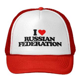 I LOVE RUSSIAN FEDERATION TRUCKER HAT