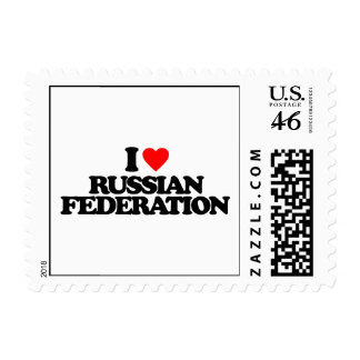 I LOVE RUSSIAN FEDERATION POSTAGE