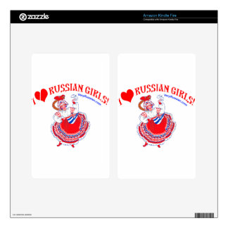 I love Russian Girls Decal For Kindle Fire