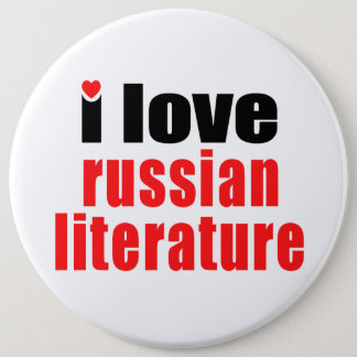 I Love Russian Literature Button