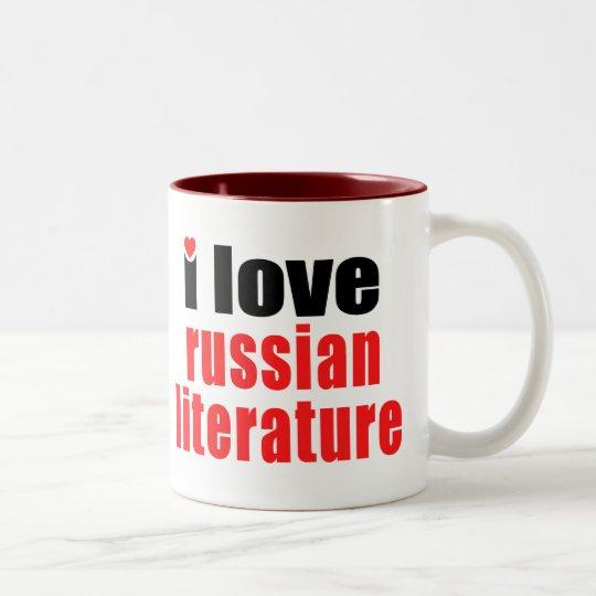 I Love Russian Literature Two-Tone Coffee Mug