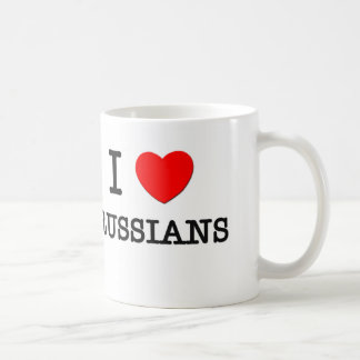 I Love Russians Classic White Coffee Mug