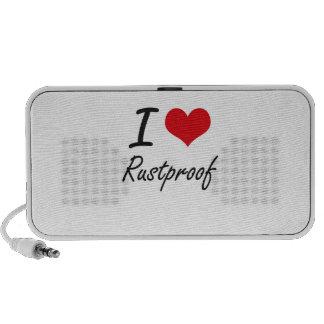 I Love Rustproof Portable Speakers