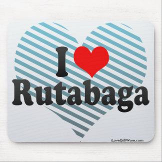 I Love Rutabaga Mouse Pad