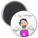 I love rutabagas! 2 inch round magnet