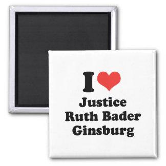 I LOVE RUTH BADER GINSBURG - .png Fridge Magnets