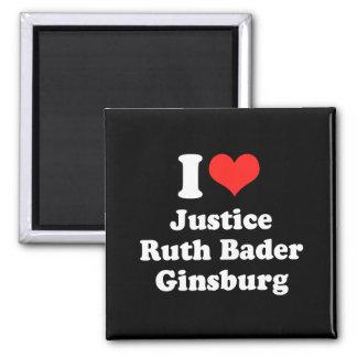 I LOVE RUTH BADER GINSBURG.png Refrigerator Magnets