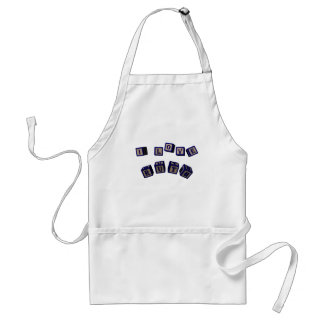I love Ruth toy blocks in blue. Adult Apron