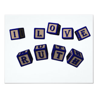 I love Ruth toy blocks in blue. Card