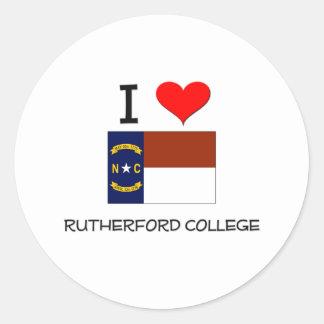 I Love Rutherford College North Carolina Classic Round Sticker