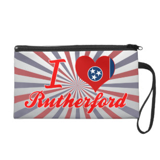 I Love Rutherford Tennessee Wristlet Purse