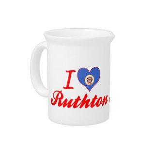 I Love Ruthton Minnesota Pitcher