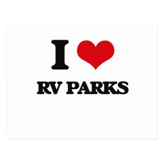 I love Rv Parks Postcard