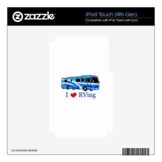 I Love RVing iPod Touch 4G Decals