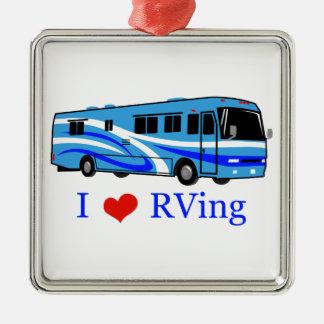 I Love RVing Metal Ornament