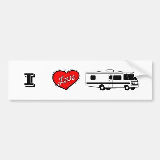 I Love RVing, PinkRV.com Car Bumper Sticker
