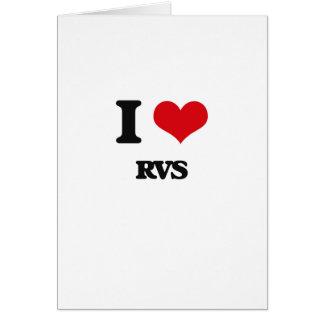 I Love Rvs Greeting Card