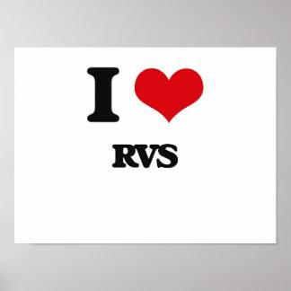 I Love Rvs Poster