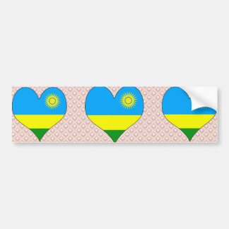 I Love Rwanda Car Bumper Sticker