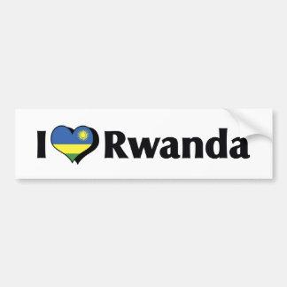 I Love Rwanda Flag Car Bumper Sticker