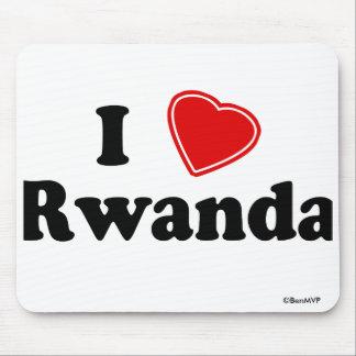 I Love Rwanda Mouse Pad