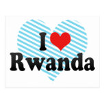 I Love Rwanda Postcard