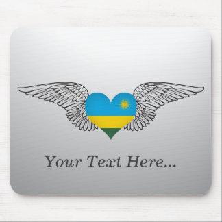 I Love Rwanda -wings Mouse Pad