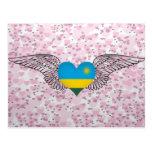 I Love Rwanda -wings Postcard