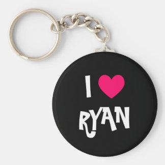 I Love Ryan Keychain