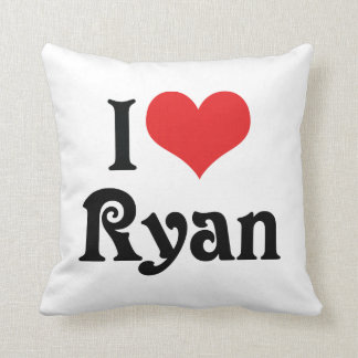 I Love Ryan Pillow