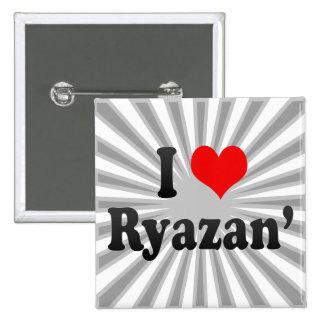 I Love Ryazan', Russia Button