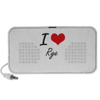 I Love Rye Travelling Speakers