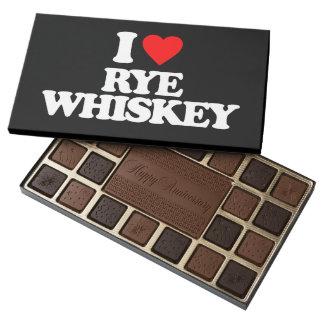 I LOVE RYE WHISKEY ASSORTED CHOCOLATES