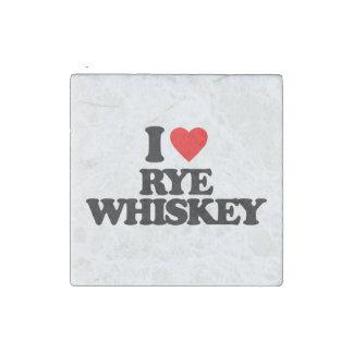 I LOVE RYE WHISKEY STONE MAGNET