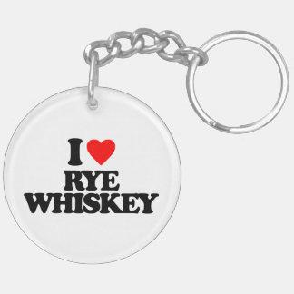 I LOVE RYE WHISKEY ACRYLIC KEYCHAINS