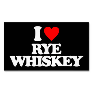 I LOVE RYE WHISKEY MAGNETIC BUSINESS CARD