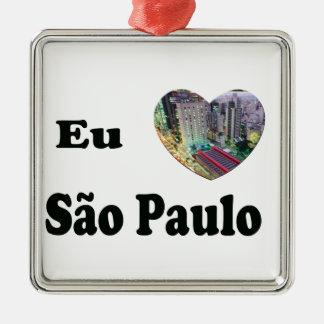 I Love S6ao Paulo Metal Ornament