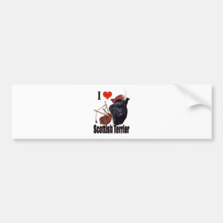 I love S Terrier Car Bumper Sticker