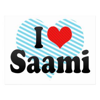 I Love Saami Postcard