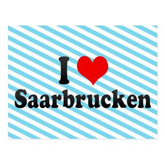 I Love Saarbrucken, Germany Postcard