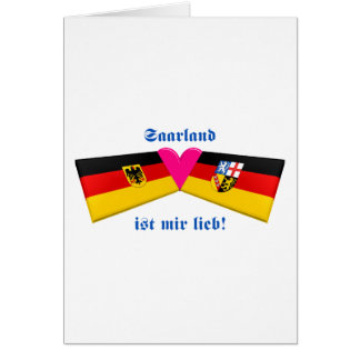 I Love Saarland ist mir lieb Card