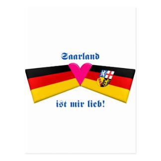 I Love Saarland ist mir lieb Postcard