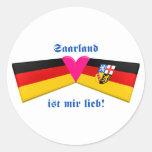 I Love Saarland ist mir lieb Round Sticker