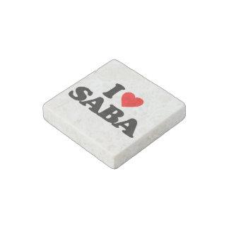 I LOVE SABA STONE MAGNET