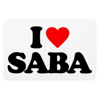 I LOVE SABA RECTANGULAR MAGNET