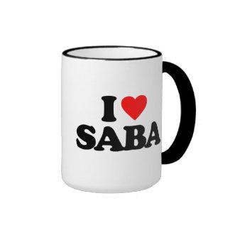 I LOVE SABA RINGER MUG