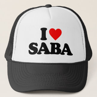 I LOVE SABA TRUCKER HAT