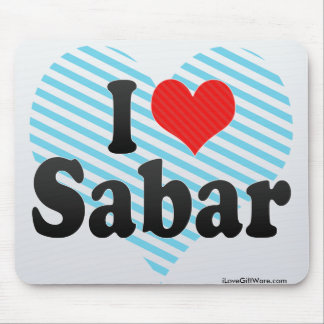 I Love Sabar Mouse Pad