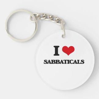 I Love Sabbaticals Single-Sided Round Acrylic Keychain