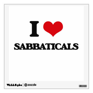 I Love Sabbaticals Wall Skins